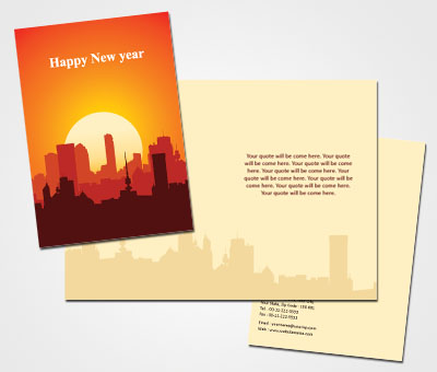 Online Greeting Card printing Celebrating New Year