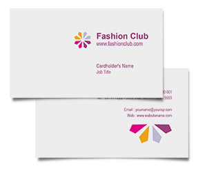 Business Card printing Fashion Business Club