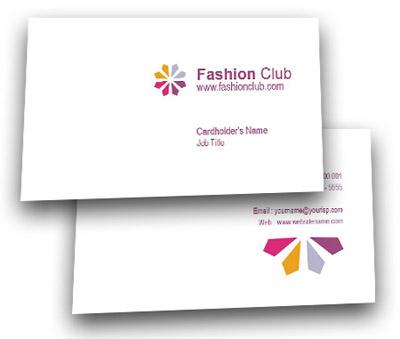 Online Business Card printing Fashion Business Club