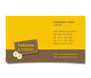Business Card printing Fashion Trends
