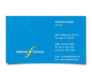 Business Card printing Cable Internet Service