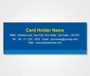 Address Labels printing Blue Striped