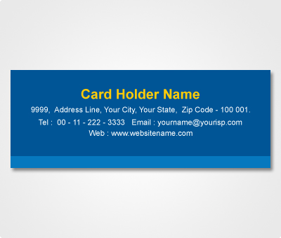 Online Address Labels printing Blue Striped