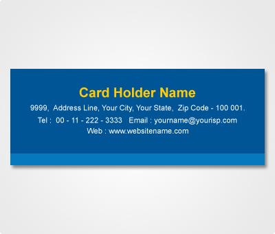 Online Address Labels printing Blue Striped