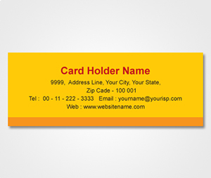 Address Labels printing Yellow Sticker with Orange stripe