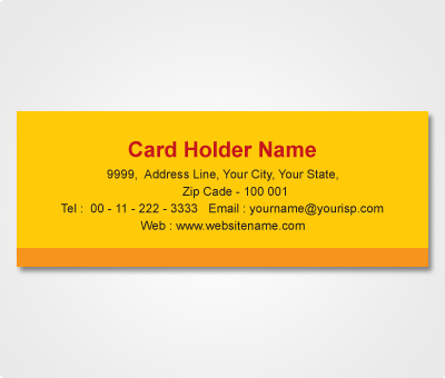 Online Address Labels printing Yellow Sticker with Orange stripe