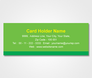 Address Labels printing Green Sticker