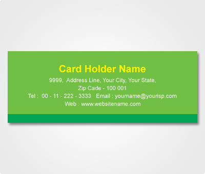 Online Address Labels printing Green Sticker