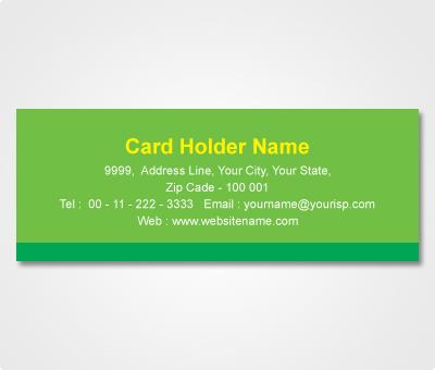 Online Address Labels printing Green Sticker
