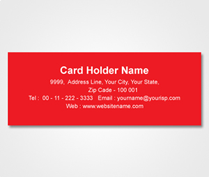Address Labels printing Red Sticker