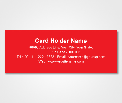 Online Address Labels printing Red Sticker