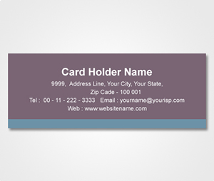Address Labels printing Grey Sticker with Blue Stripe