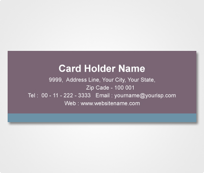 Online Address Labels printing Grey Sticker with Blue Stripe