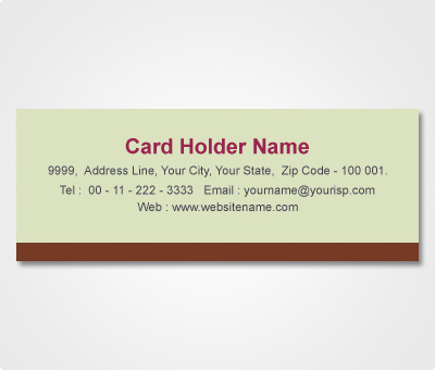 Online Address Labels printing Brown Striped