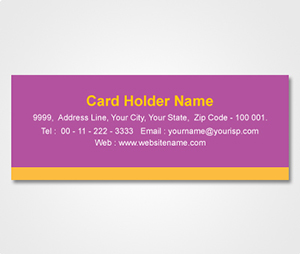 Address Labels printing Purple Sticker