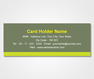 Address Labels printing Deep Green Sticker with Light Green stripe