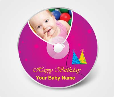Online CD / DVD Stickers printing Kids Birtyhday