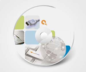 CD / DVD Stickers printing Computer Supplies