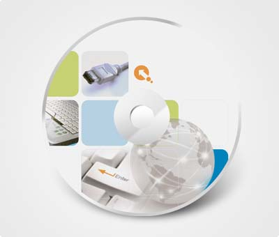 Online CD / DVD Stickers printing Computer Supplies