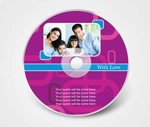 CD / DVD Stickers printing Family Photo Album