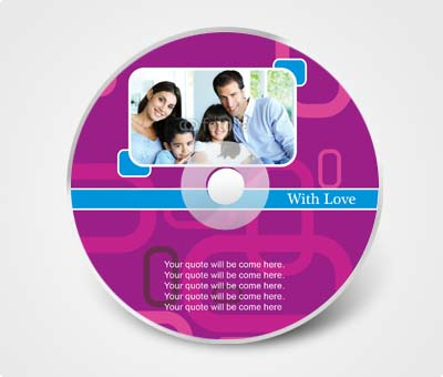 Online CD / DVD Stickers printing Family Photo Album