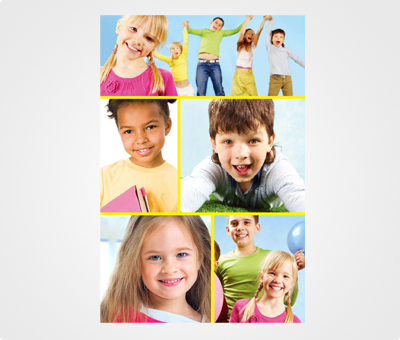 Online Collage Posters printing Children Pictures