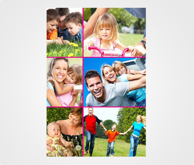 Online Collage Posters printing Family Photos