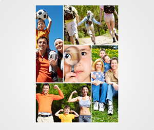 Collage Posters printing Family Portrait