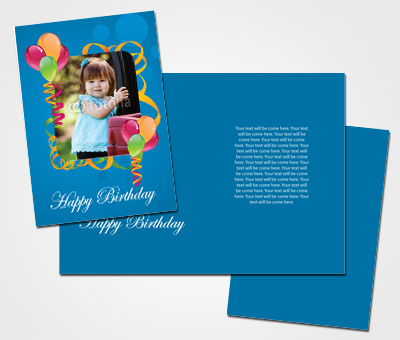 Online Greeting Card printing Kids Birthday