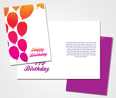 Online Greeting Card printing Balloons Birthday