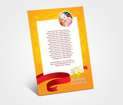 Online Invitations printing Kids Birthday