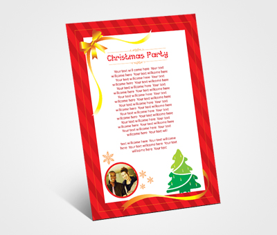 Online Invitations printing Christmas Party