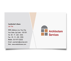 Business Card printing Residential Architecture