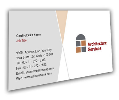 Online Business Card printing Residential Architecture