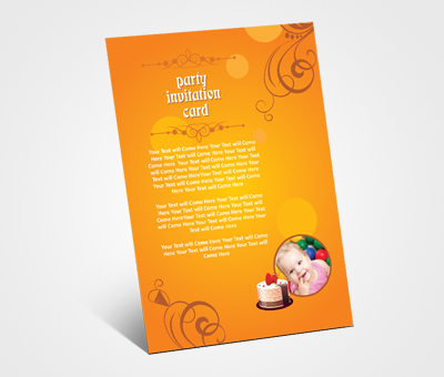 Online Invitations printing Children Birthday