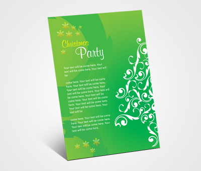 Online Invitations printing Christmas Celebration