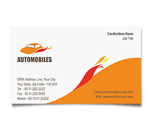 Business Card printing Automobile Showroom