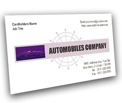 Online Business Card printing Automobile Showroom