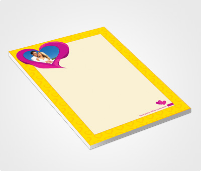 Online Notepads printing Sweetheart