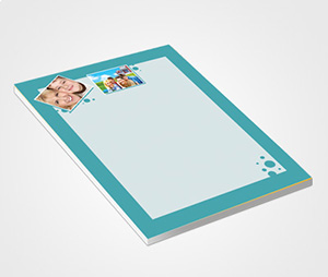 Notepads printing Blue Border And Family Photo