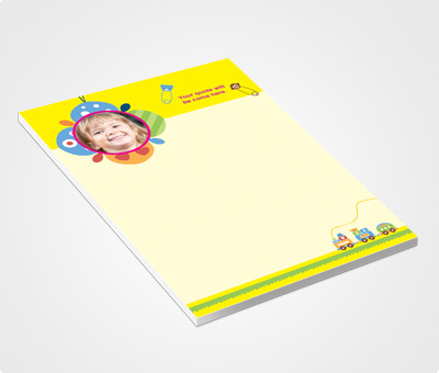 Online Notepads printing Yellow Header And Kids Photo