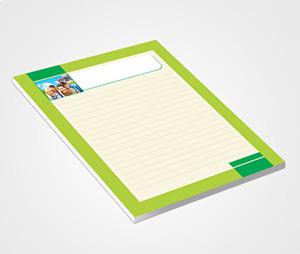 Notepads printing Elegant Green Border