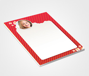 Notepads printing White Dots on Red