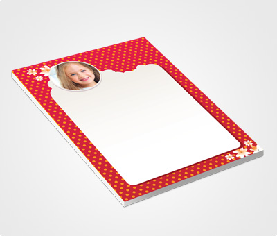 Online Notepads printing White Dots on Red