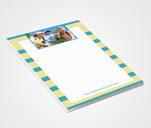 Notepads printing Green Striped Design