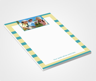 Online Notepads printing Green Striped Design