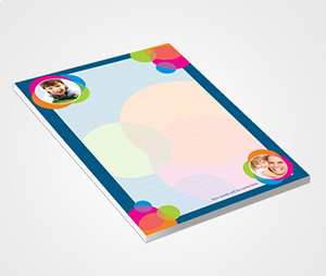 Notepads printing Photos Bubbles