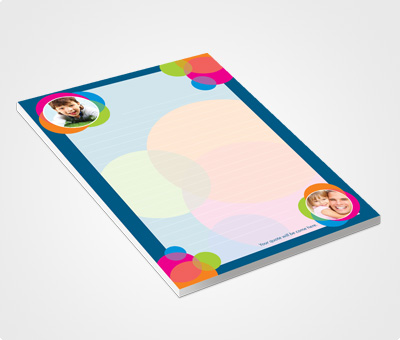 Online Notepads printing Photos Bubbles