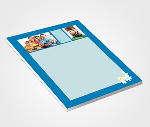 Notepads printing Blue Frame And Family Picture