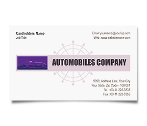 Business Card printing Automobile Engines